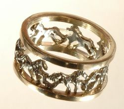 Bands of Horse jewelry for equestrians